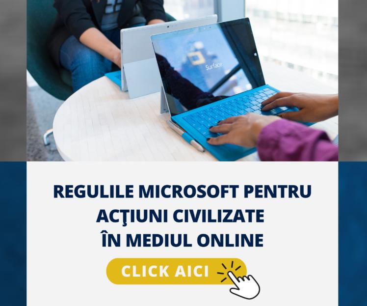 Regulile Microsoft pentru interacțiuni civilizate în mediul online